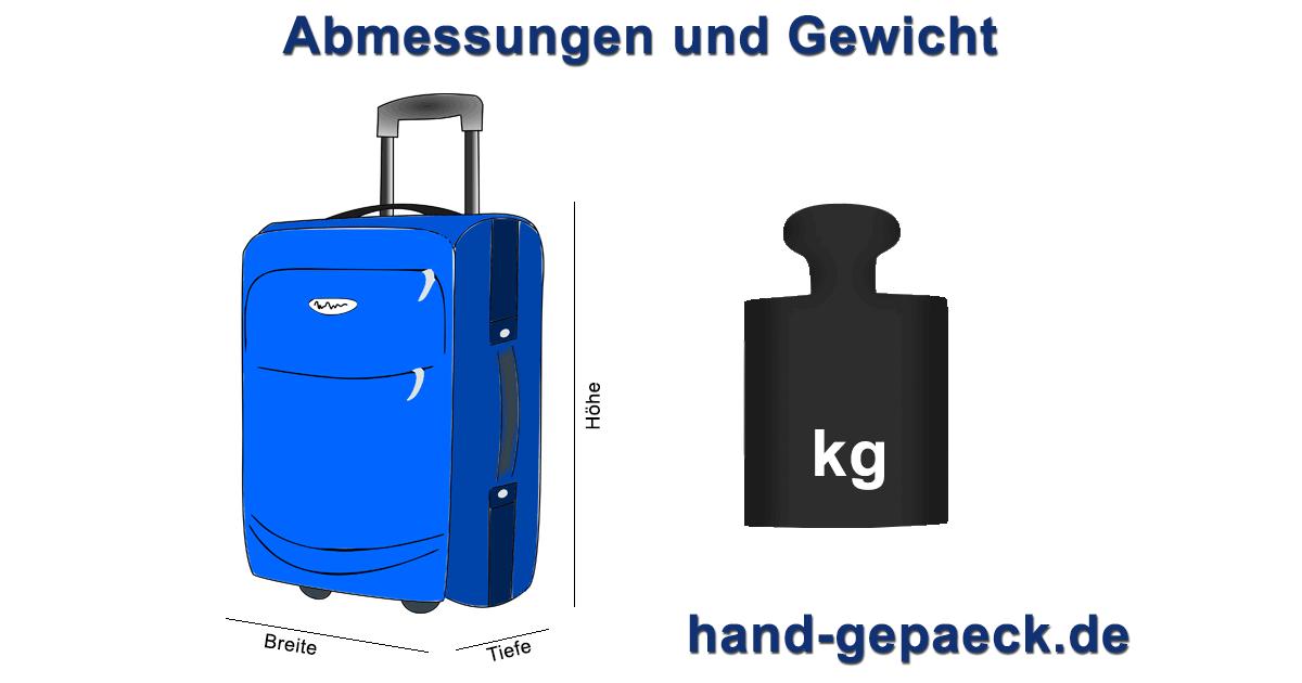 Maße Und Gewicht Beim Handgepäck Regeln Im Flugzeug